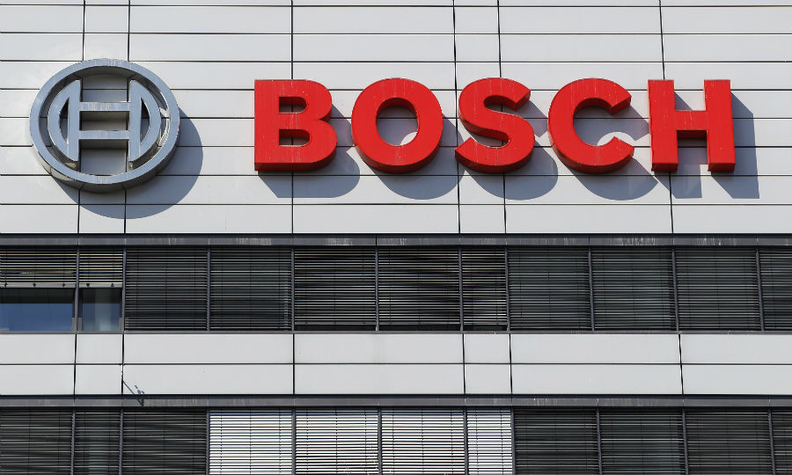 Bosch name on headquarters building