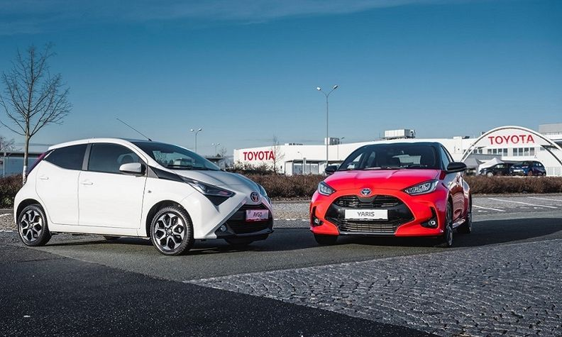 Toyota builds the Aygo, left, at the Kolin plant and is adding production of the Yaris in the second half.